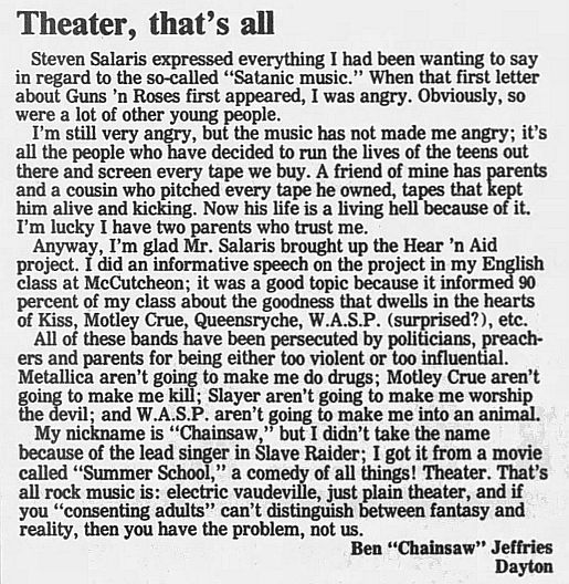 1989.02.21/04.10 - Journal and Courier (Lafayette, IN.) - Readers' letters/Debate on GN'R B4B8ZZ29_o