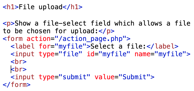 file upload code examples