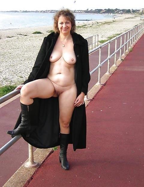 Naked milf in public-6641