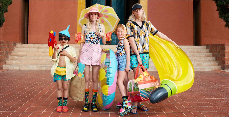 веселые носки модного бренда happy socks, коллекция весна-лето 2020 / фото 01