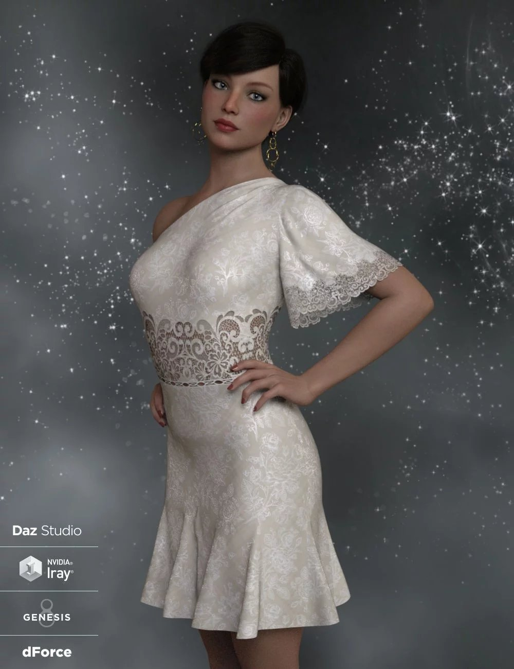 dForce Felicity Ann Dress for Genesis 8 Female(s)
