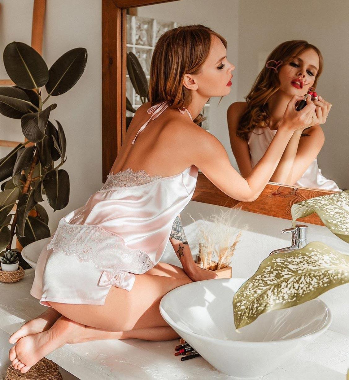 Анастасия Щеглова в нижнем белье торговой марки MissX / фото 01