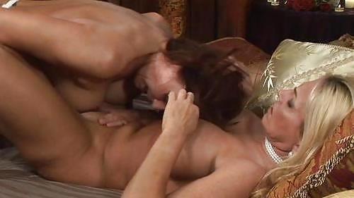 Lesbian tit on clit-3023