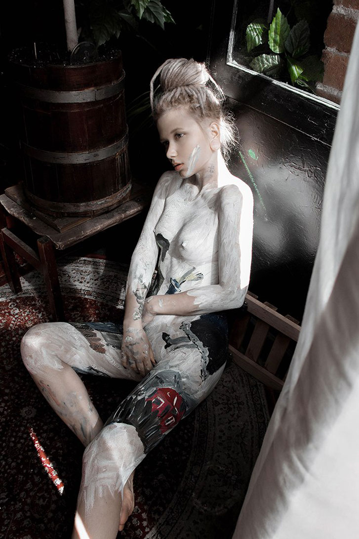 bodypaint / Lesia Sito nude by Vasilisa Getova