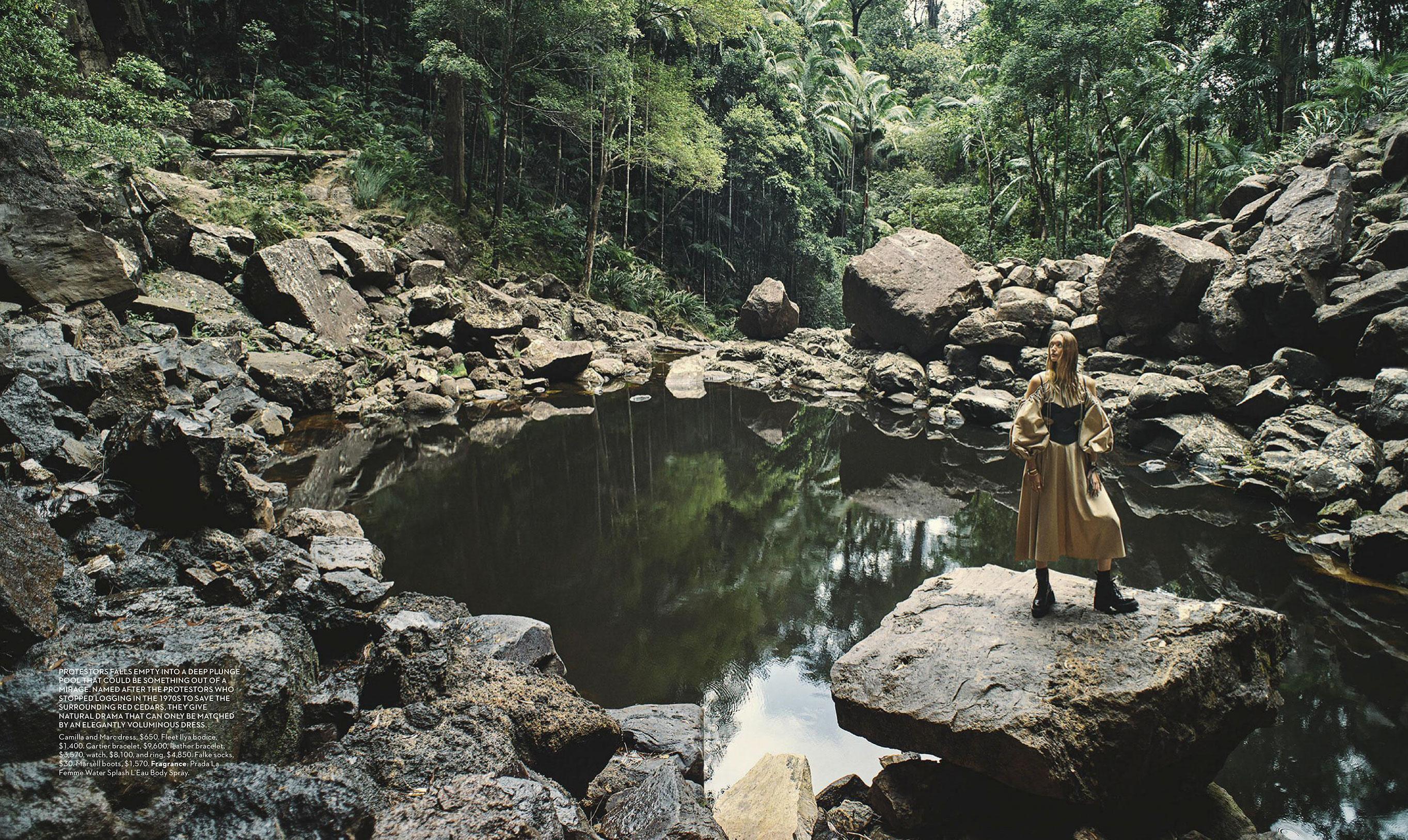 Джемма Уорд с семьей путешествует по лесам Нового Южного Уэльса / фото 07