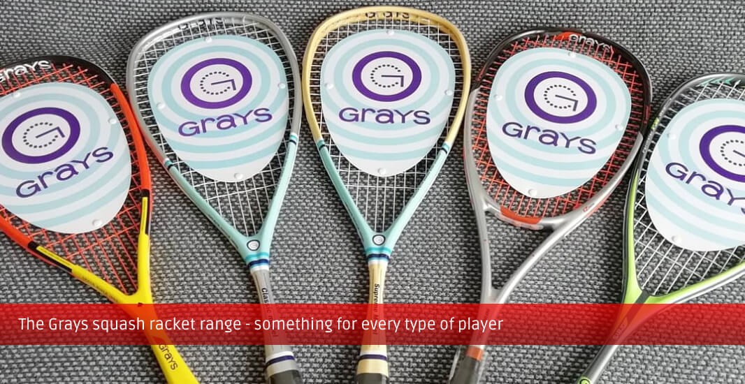 The full 2020 Grays squash rackets range