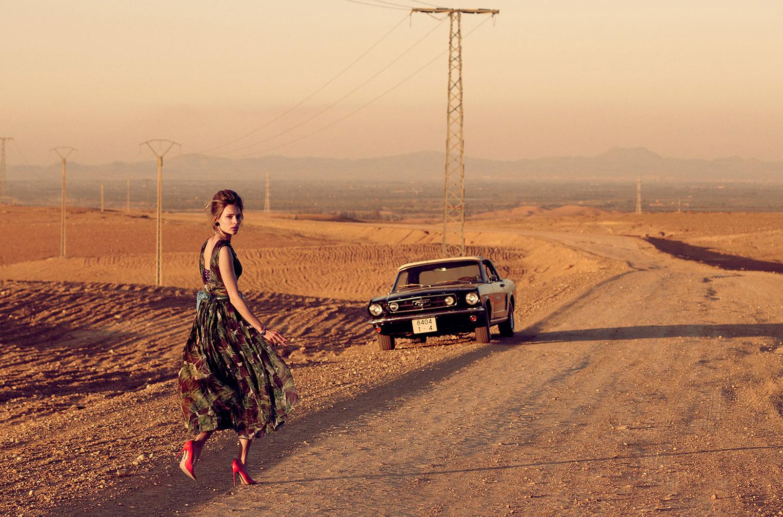 Красавица на Мустанге и пыльные дороги Марракеша / фото 08