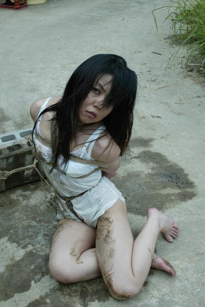 Chubby girl in bondage-9294