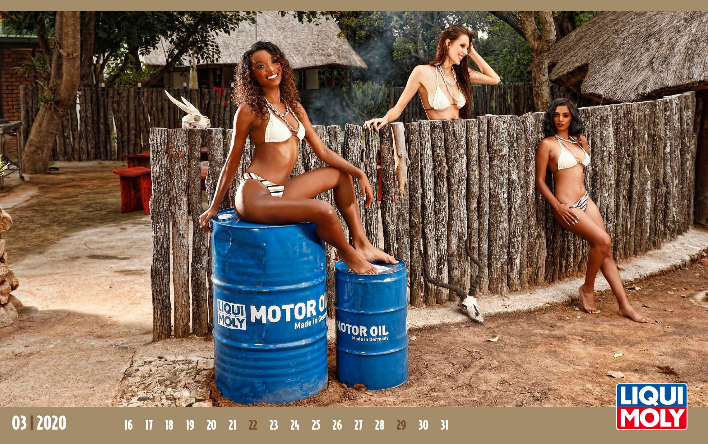Календарь с девушками автоконцерна Liqui Moly, 2020 год / март-2