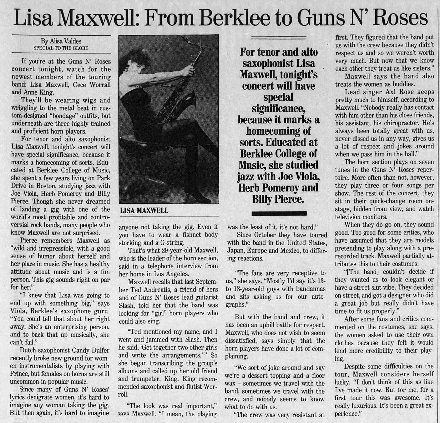 1992.07.31 - The Boston Globe - Lisa Maxwell: From Berklee to Guns Ν' Roses OhkTJ2hL_o