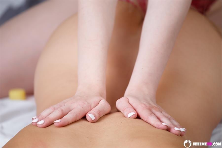 Japanese lesbian massage seduction-7416
