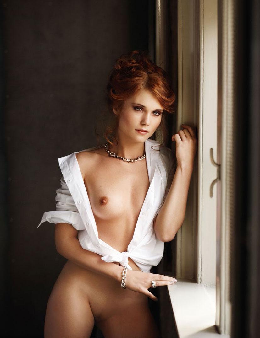 рыжие сексуальные красавицы в журнале Playboy - Amanda van den Hurk