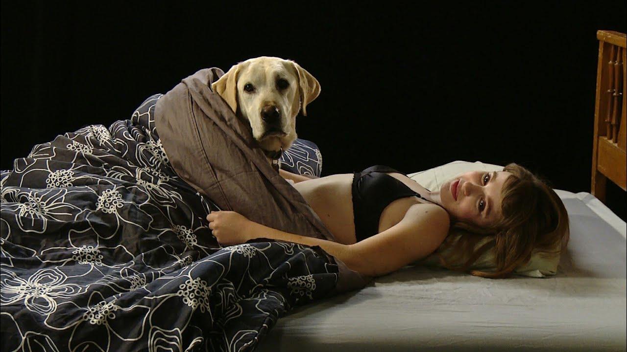 Girl and dog sex