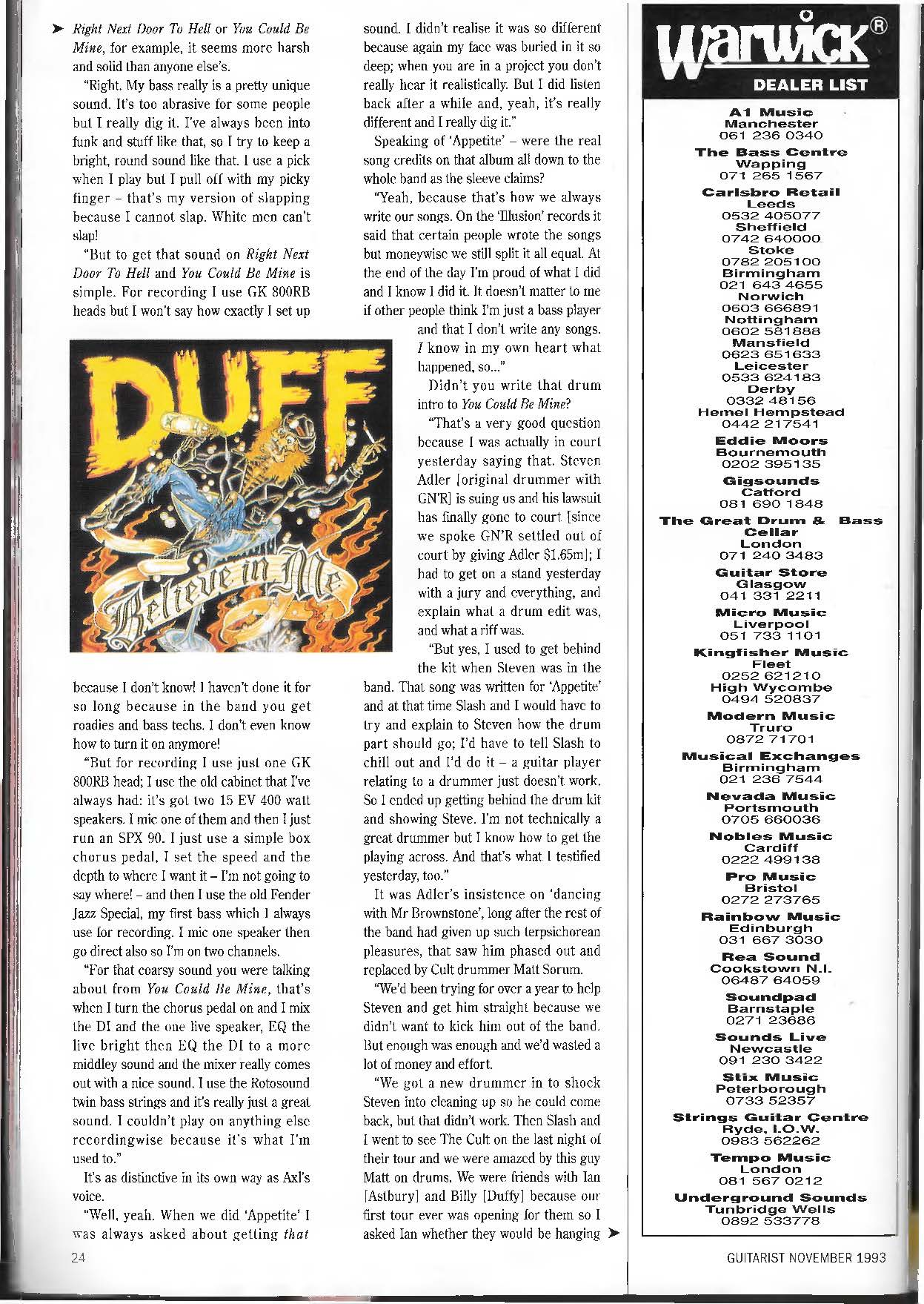 1993.11.DD - Guitarist Magazine - Loose Cannon (Duff) JeYQwJZ8_o