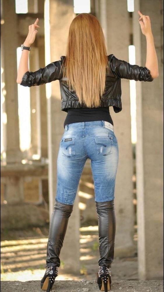 Divided jean jacket-5103