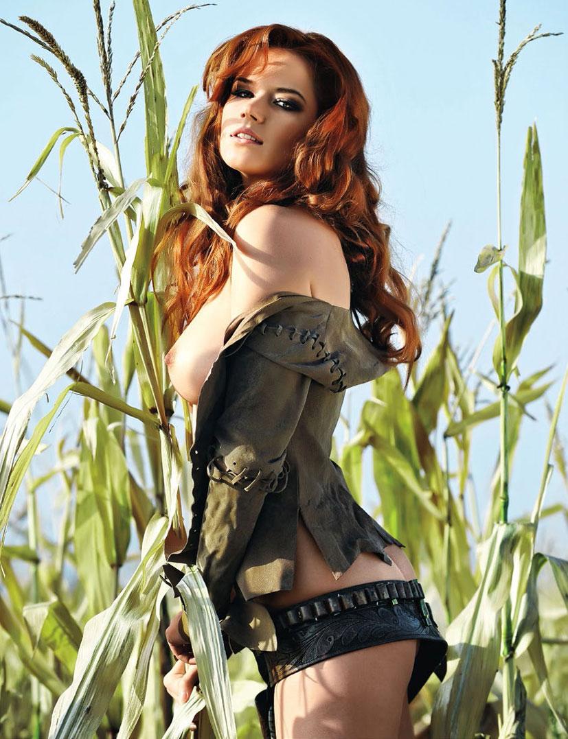 рыжие сексуальные красавицы в журнале Playboy - Kamila Hermanova