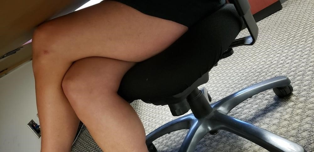 Under the desk foot worship-5328