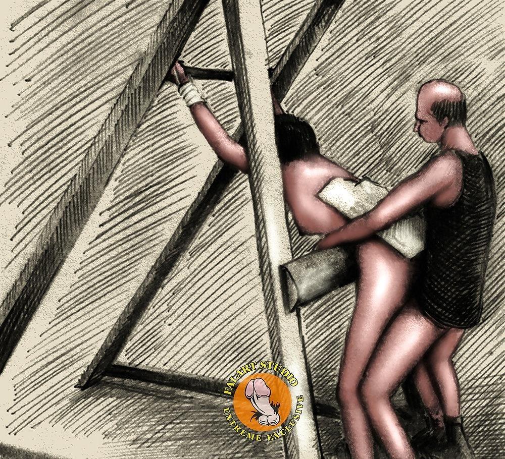Bdsm slave tied up-8891
