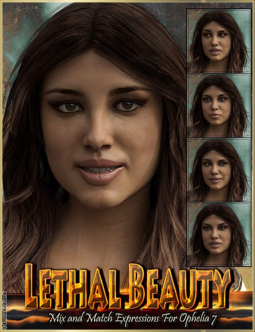 Lethal Beauty Mix and Match Expressions for Ophelia 7 and Genesis 3 Female(s)