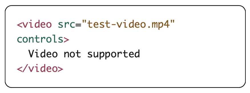 video element code example