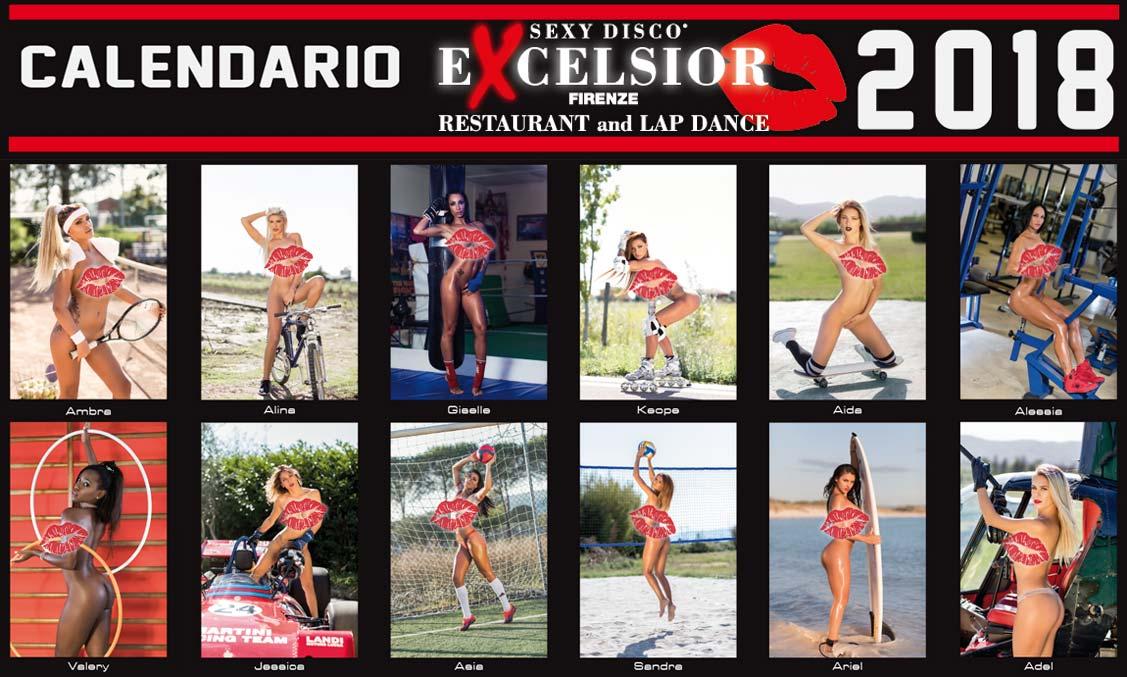 эротический календарь ночного клуба Sexy Disco Excelsior 2018 calendar