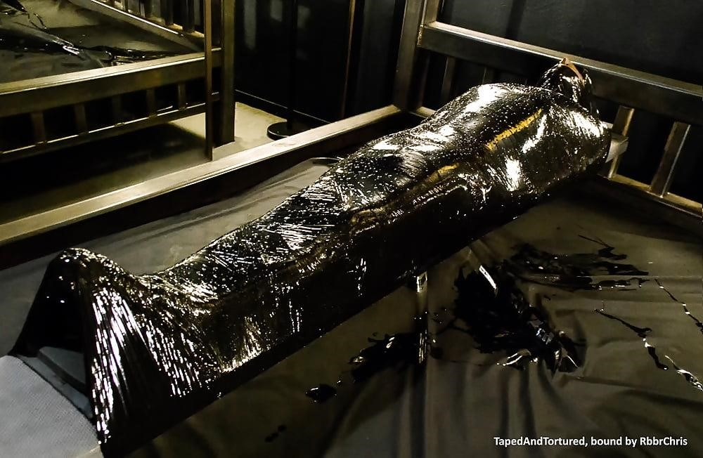 Mummification bondage girl-7180