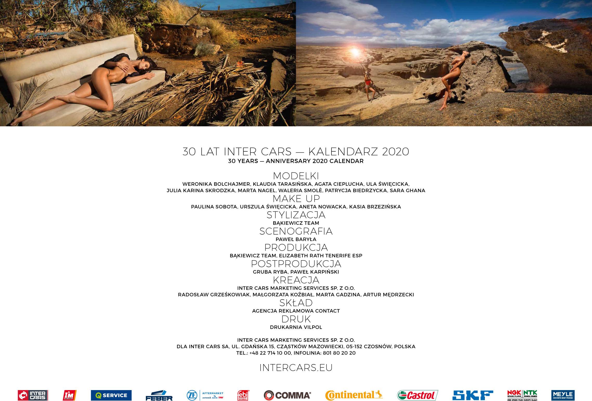Сексуальные фотомодели в эротическом календаре Inter Cars 2020 / задняя обложка