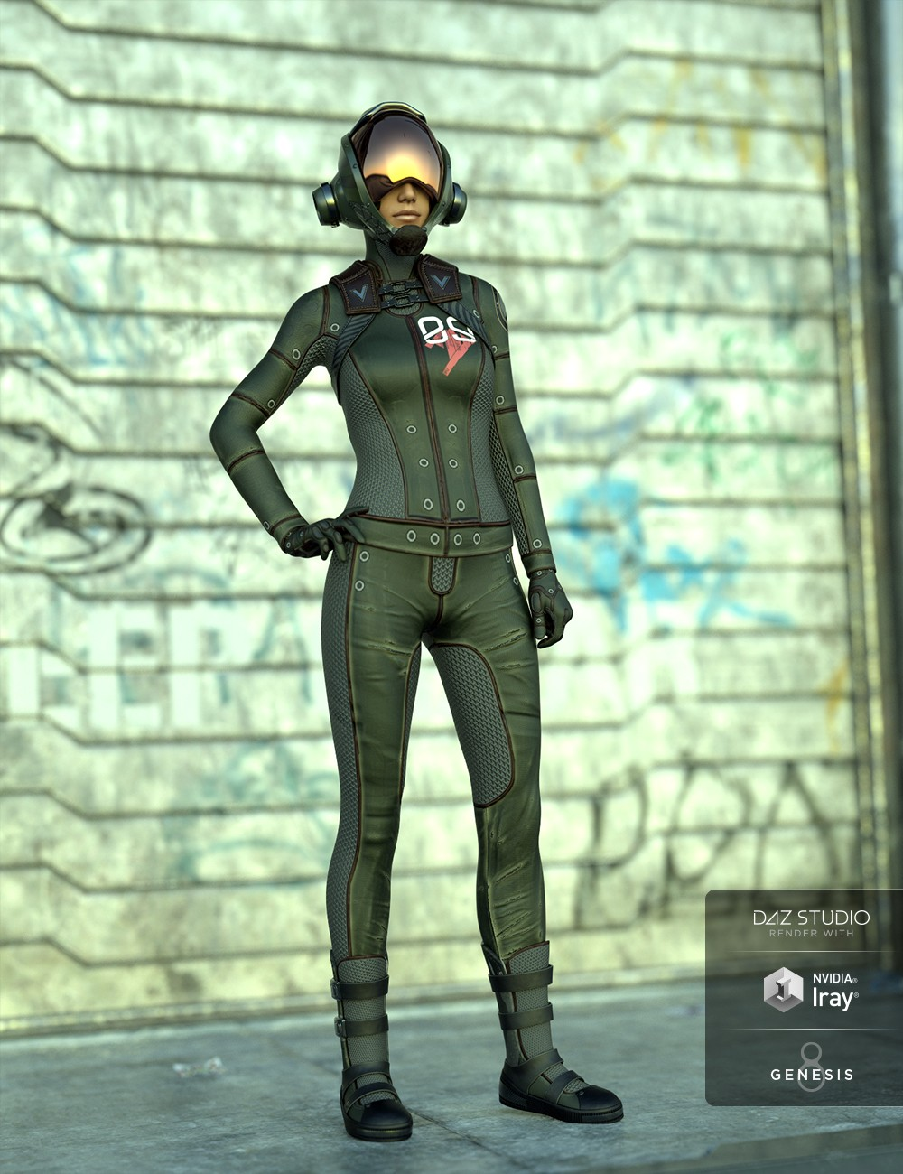 Sci-Fi Task Force Outfit for Genesis 8 Female(s)