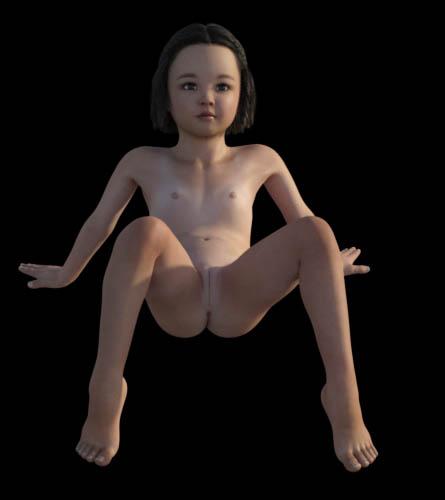Yuki Nude poses