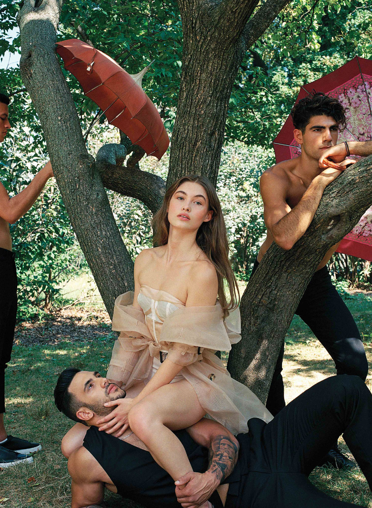 На природе с Грейс Элизабет / Grace Elizabeth by Bruce Weber - V Magazine no.110 winter 2017 / with Adil Haddaoui, Teddy Spanos, Stevan Stevanovic / No Other Name