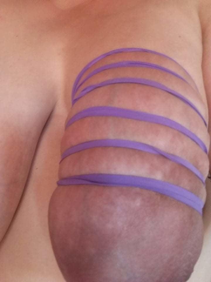 Self breast bondage-4204