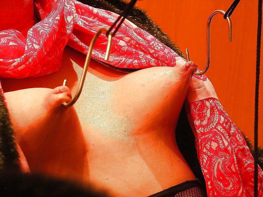 Breast bondage and torture-1056