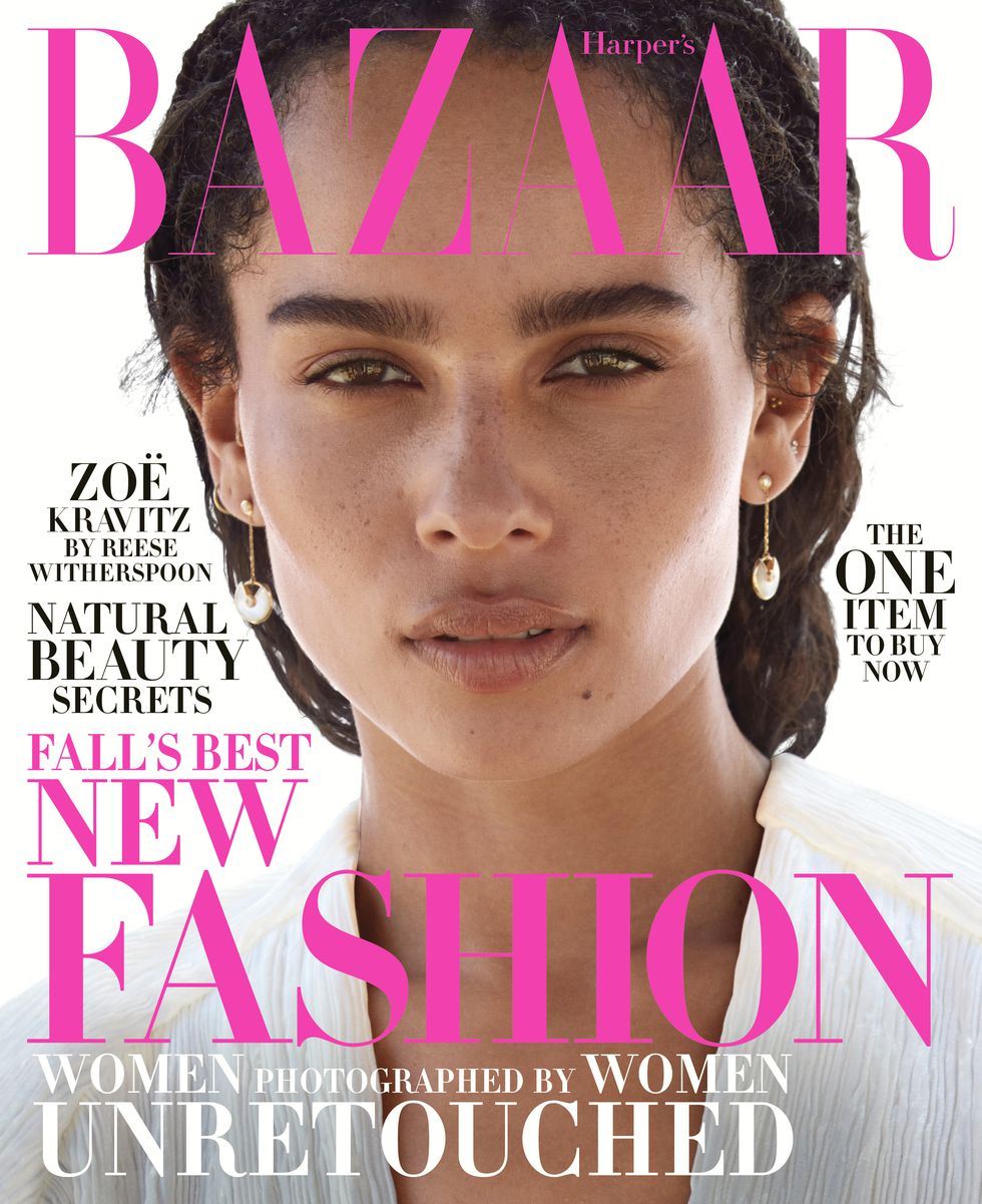 Zoe Kravitz (unretouched) in US Harper's Bazaar - October 2018