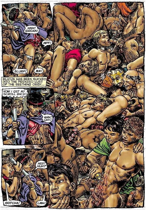 Bukkake gay orgy-3917