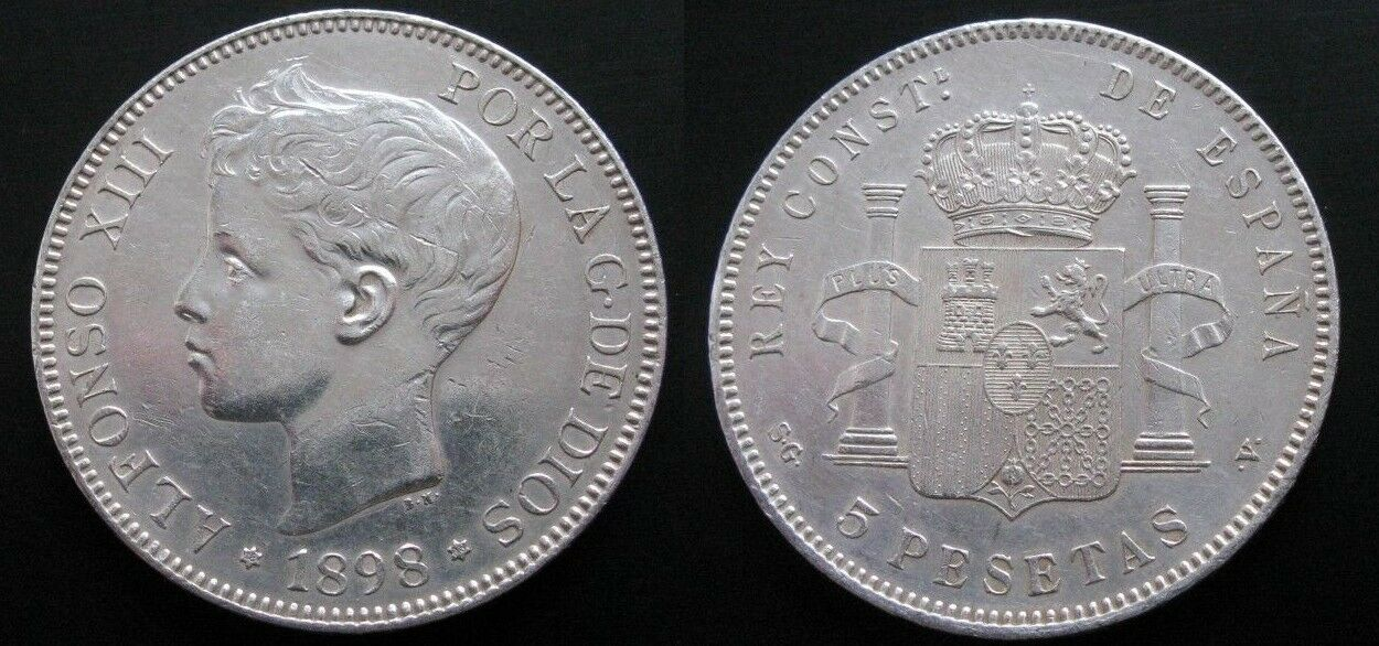 5 pesetas 1898. Alfonso XIII. Opinión YJyRVqOM_o