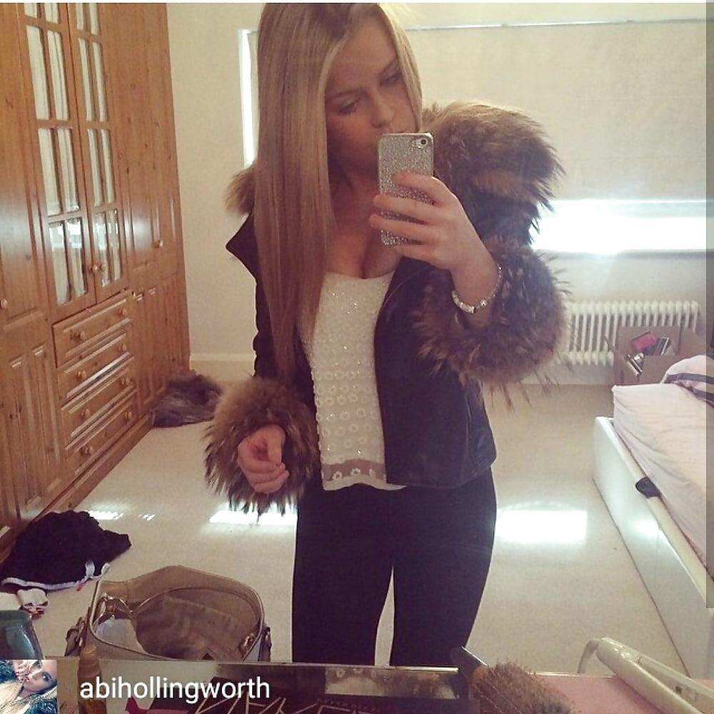 Jean jacket with brown fur-2326