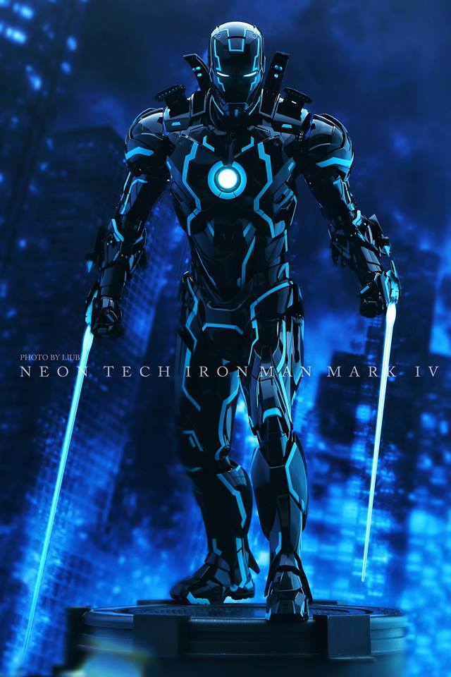 "Iron Man 2 - Mark IV Neon Tech ""Toy Flair Exclusive 2018"" 1/6 (Hot Toys) Svnp0OZY_o"
