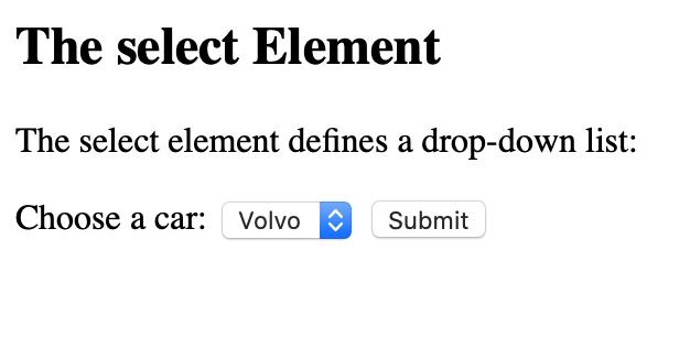 select element render