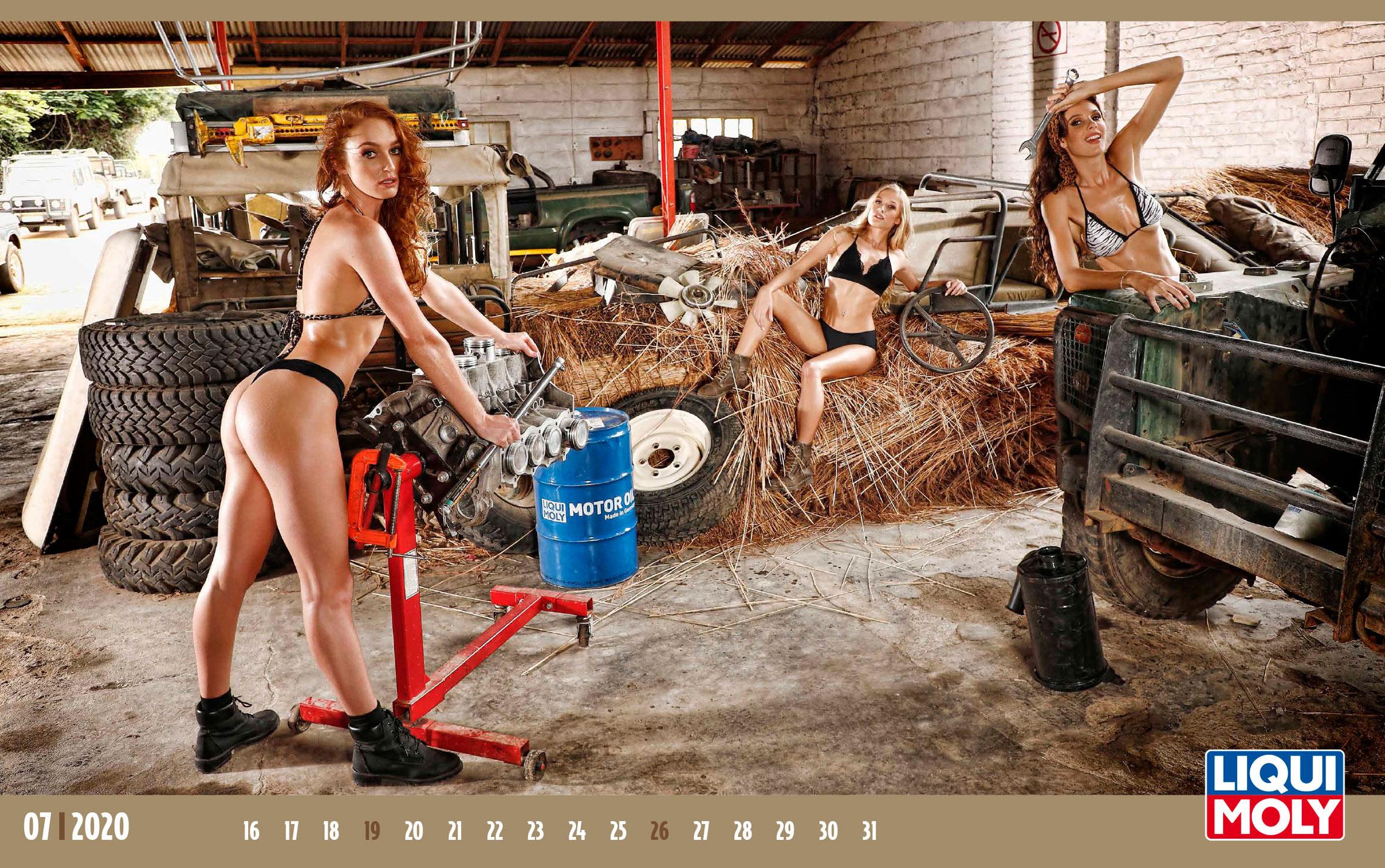 Календарь с девушками автоконцерна Liqui Moly, 2020 год / июль-2
