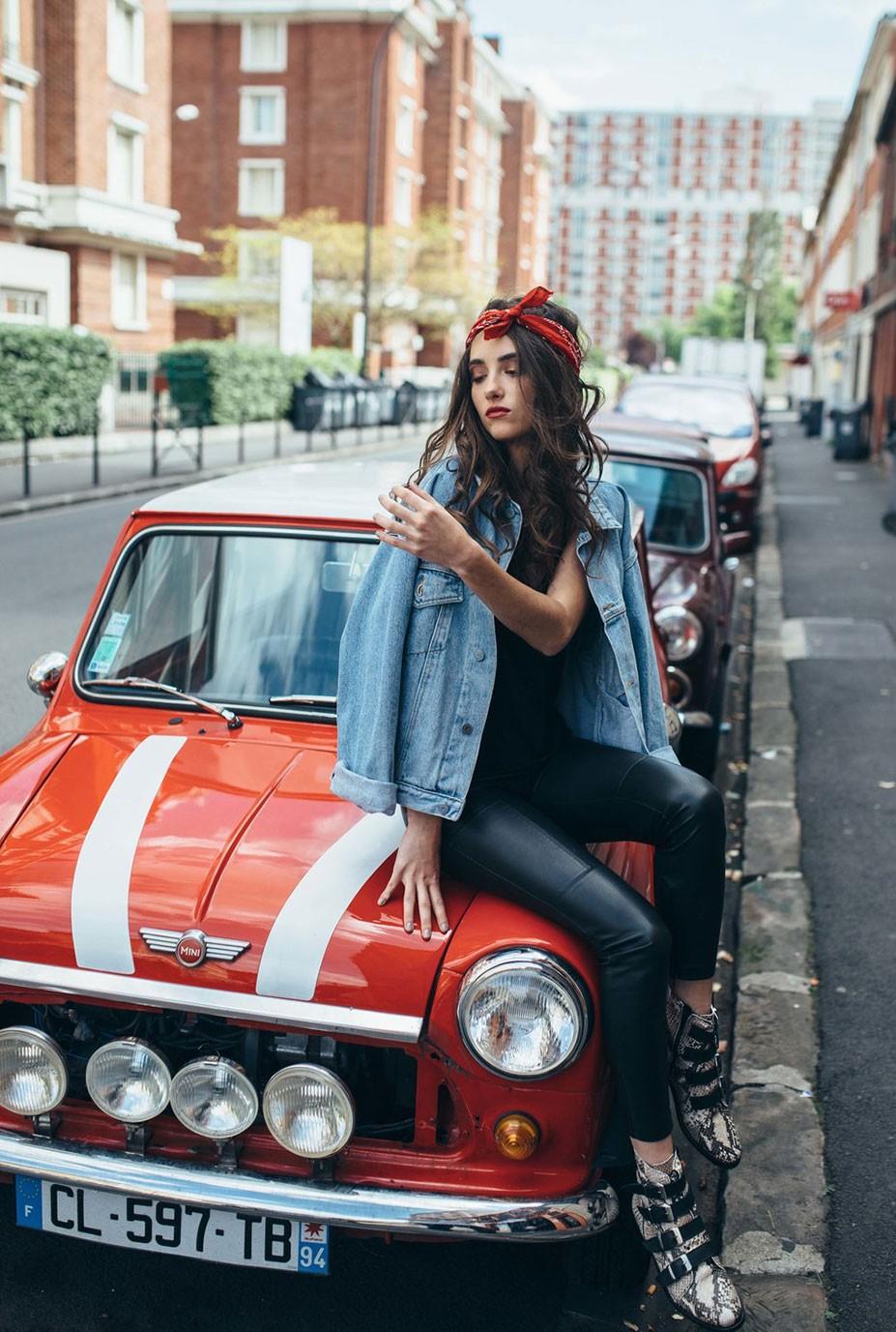 автомобильная фанатка Эльза Кутюрье / Elsa Couturier by Laurent Ponce - Rekt Magazine