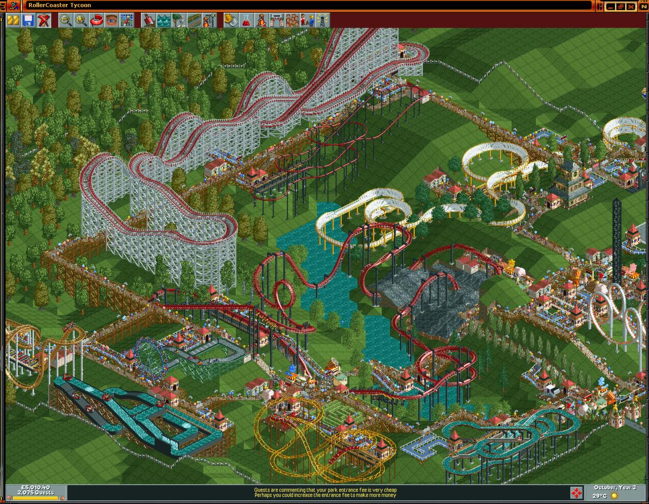RollerCoaster Tycoon: Deluxe Captura 2
