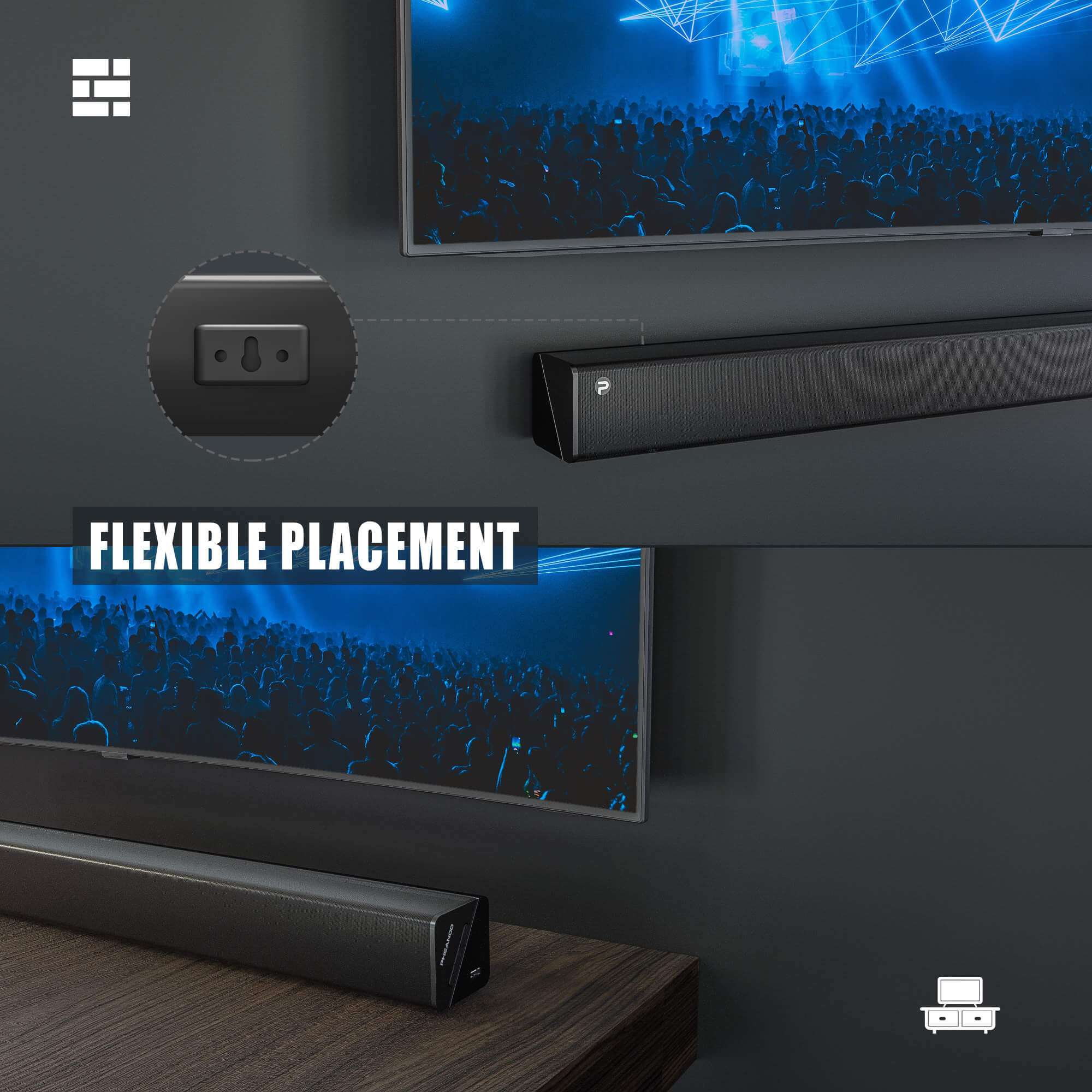 Pheanoo Audio Ltd Launches 2.1CH Sound Bar Systems with Subwoofer For Home Theater
