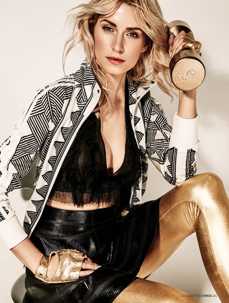 Fit Parade / Lena Gercke by Andreas Ortner / LOfficiel Germany july-august 2015