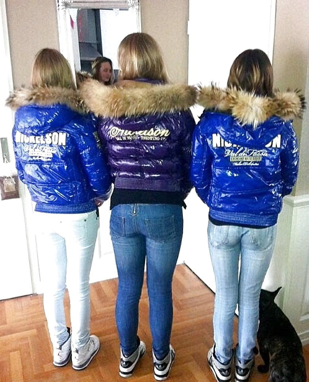 Jean jacket with brown fur-6796