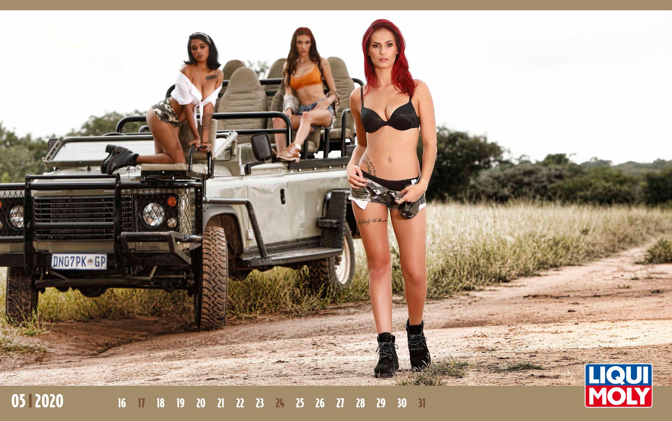 Календарь с девушками автоконцерна Liqui Moly, 2020 год / май-2