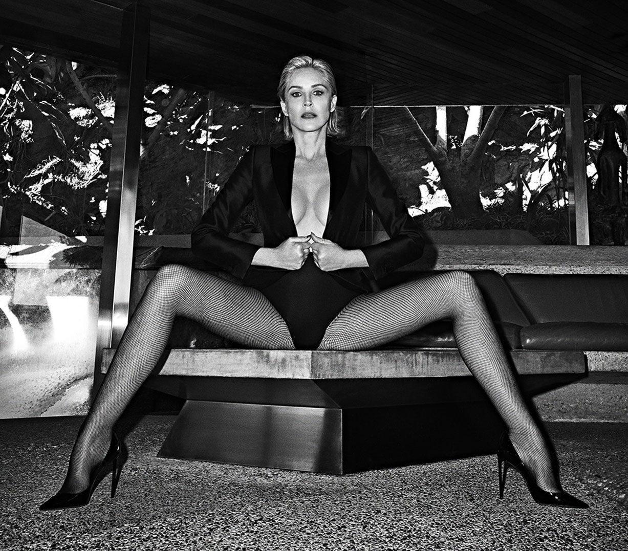 Sharon Stone by Branislav Simoncik / Vogue Portugal may 2019