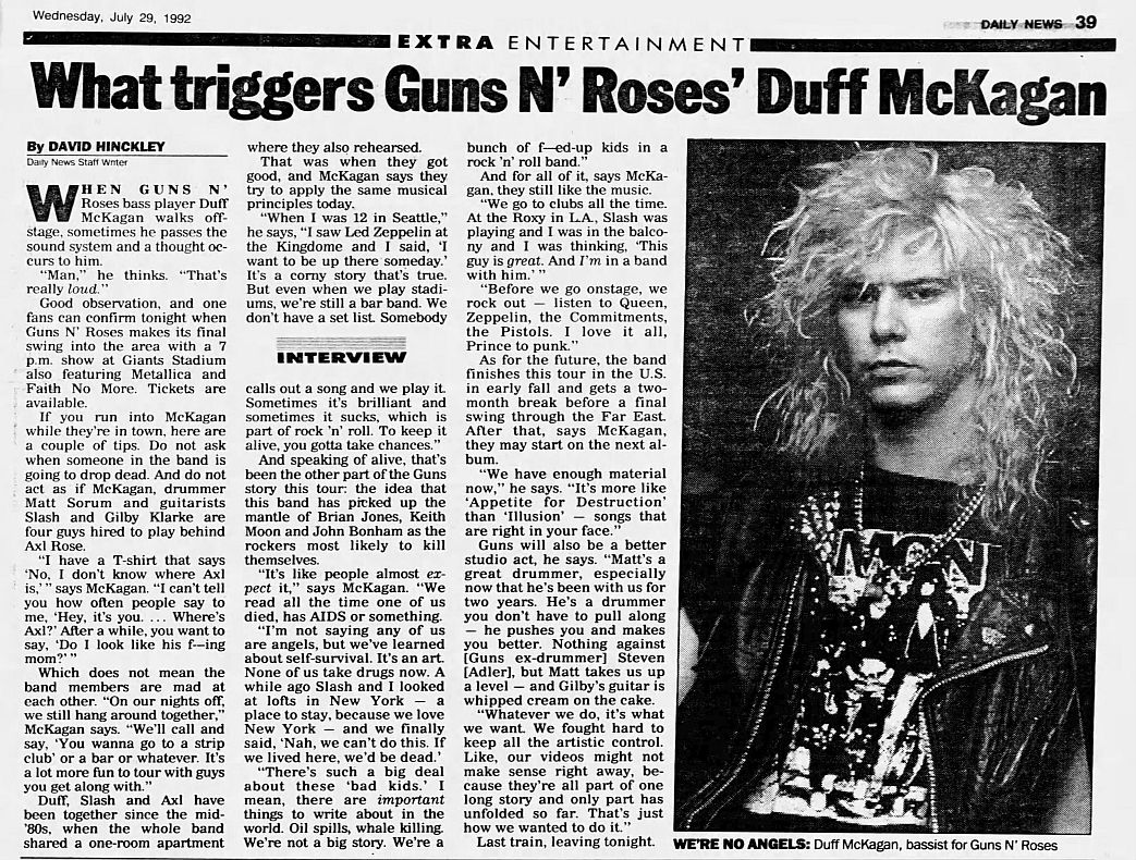 1992.07.29 - New York Daily News - What triggers Guns N' Roses' Duff McKagan (Duff) EPua4DQF_o
