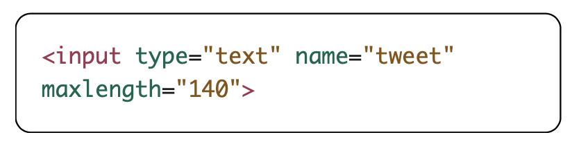 maxlength attribute example