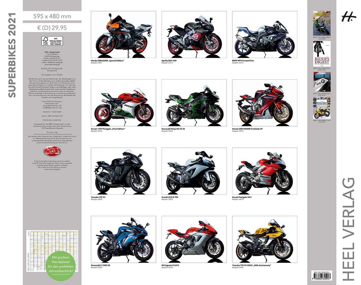 Календарь с крутыми мотоциклами на 2021 год / обложка
