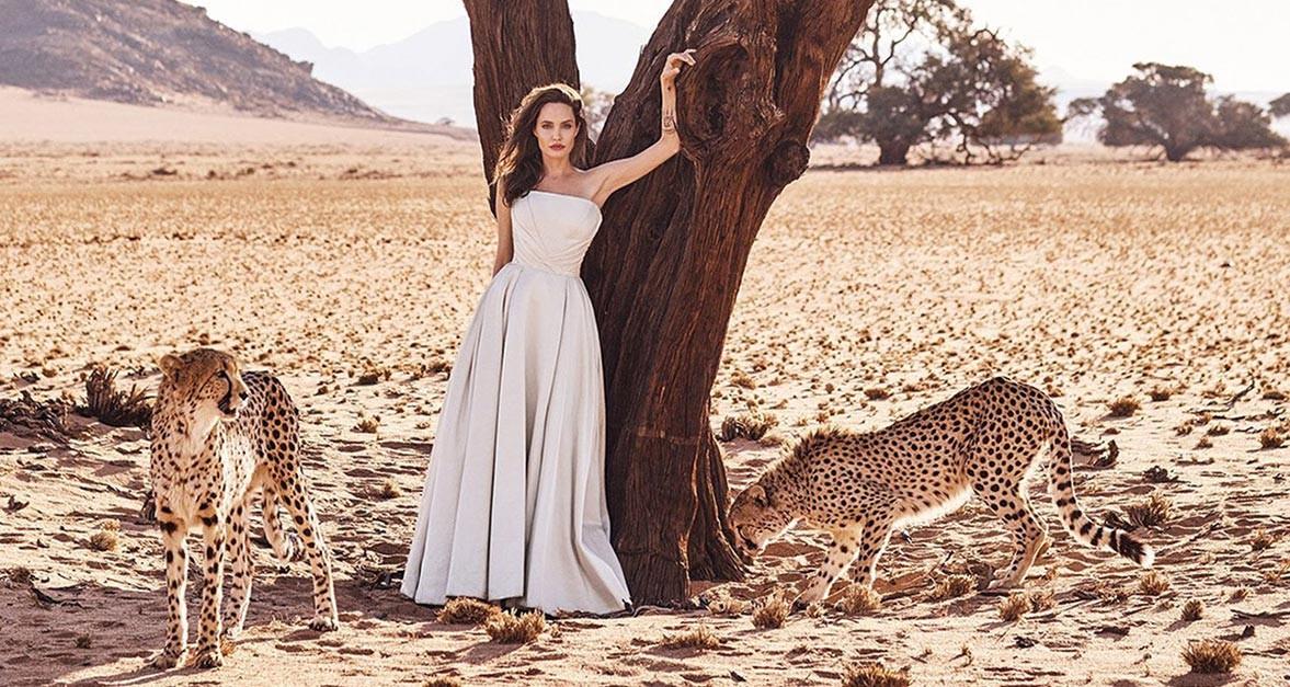 Сафари в Намибии с Анджелиной Джоли / Angelina Jolie by Alexi Lubomirski - Harpers Bazaar US november 2017